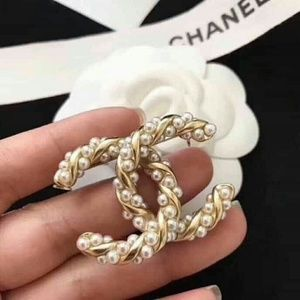 Authentic Chanel Gold Bubble CC Pearl Brooch